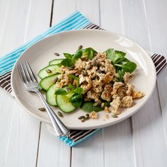 Oat scrambled eggs