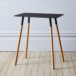 Steel & Wood Rectangular Side Table