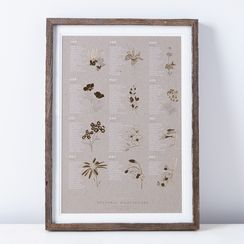 Framed Seasonal California Native Wildflower Print
