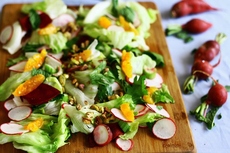 Colorful Salad with Orange Vinaigrette