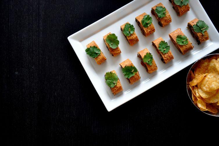 Smoked Bharta [Eggplant] Pinwheels