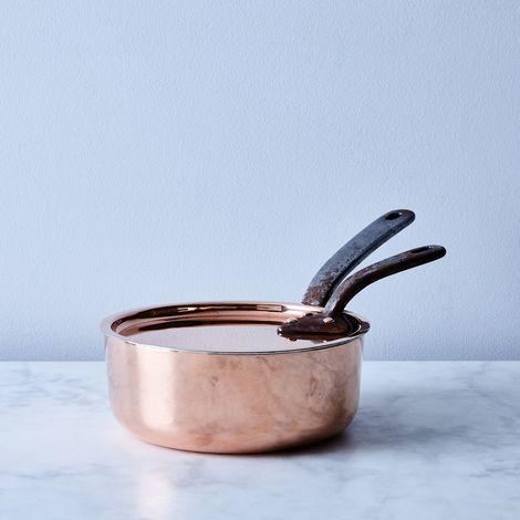 Vintage Copper English Sauté Pan, Mid 19th Century