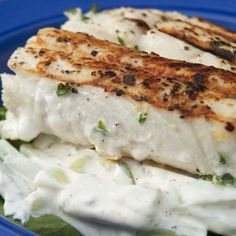Lemon-Thyme Grilled Fish with Cucumbers and Arugula