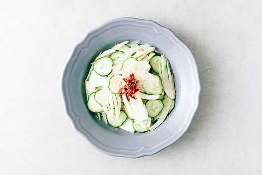 Cucumber and Fennel Salad with Chilli Ginger Dressing