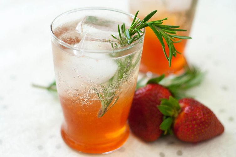 Strawberry Rosemary Summer Cocktail