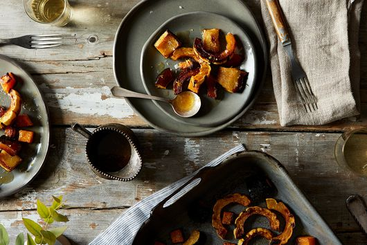 Roasted Squash with Maple-Ginger Glaze