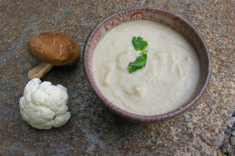 Portrait of a soup in cream
