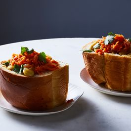 South African Bunny Chow With Butter Beans