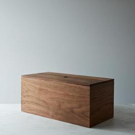 Walnut Wooden Bread Box