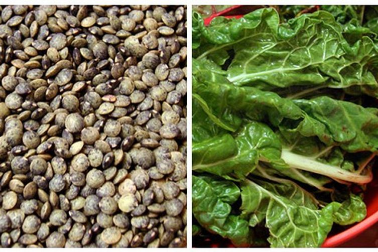 Lentils and Chard
