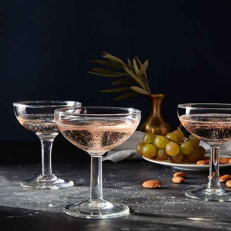 Vintage French Champagne Coupes (Set of 2)