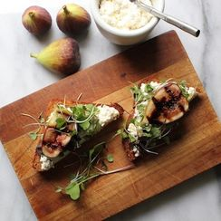 Balsamic Grilled Figs on Lemon Ricotta Toast