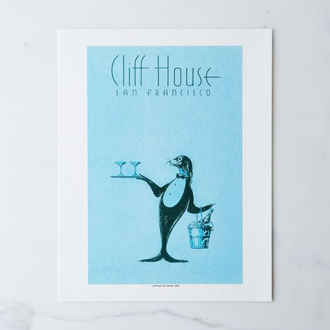 Vintage Menu Print: Cliff House