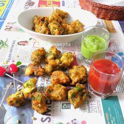 Moong daal Bhajiya /lentil fritters