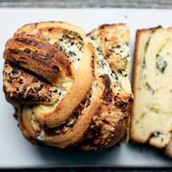 Savory Babka with Gruyère, Mozzarella, and Black Sesame