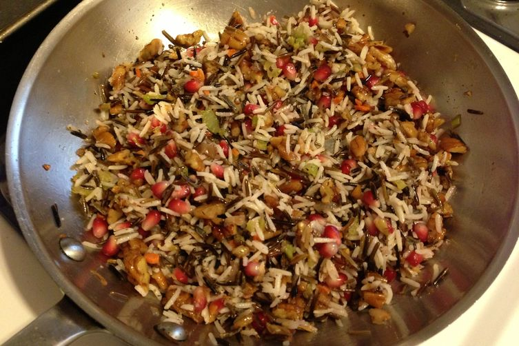 Wild And Basmati Rice Pomegranate Pilaf