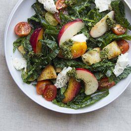 Summer Panzanella Salad with Pesto Vinaigrette