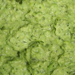 Pea & mint puree