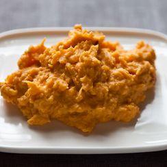 Orange Saffron Mashed Sweet Potatoes
