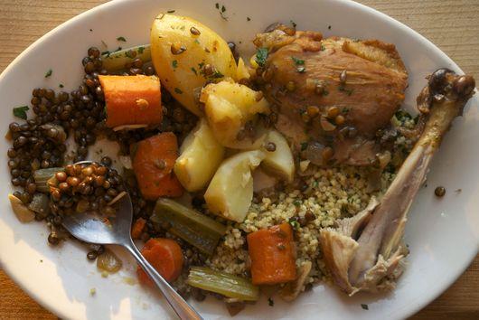 Chicken & Lentil Cholent