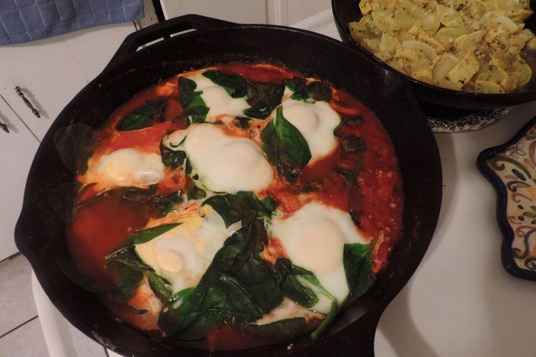 Imah's Israeli Shakshuka (Egg & Vegie Dish)