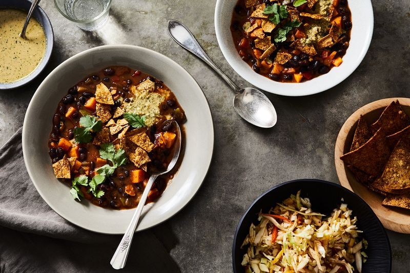Meal kits tailored to your special diet, like this vegan chili from Green Chef, help keep you on track.
