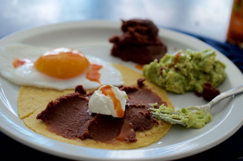Honduran-style breakfasts are one of MariaR's comfort foods.