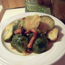 Brussels Sprouts Braised in Beer, Cider, and Juniper