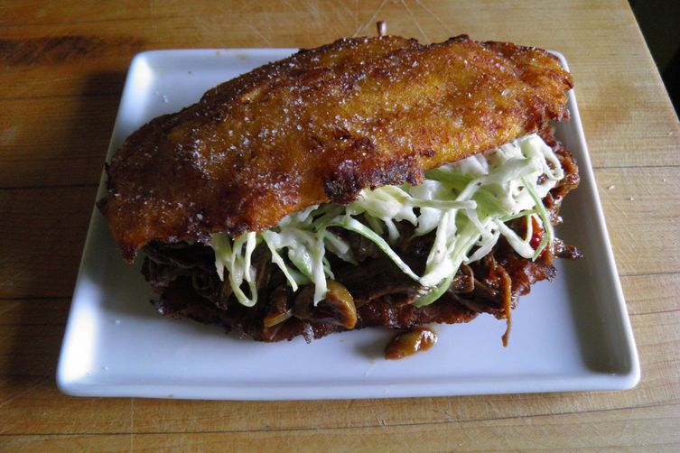 Pabellon Criollo on Crispy Fried Plantains
