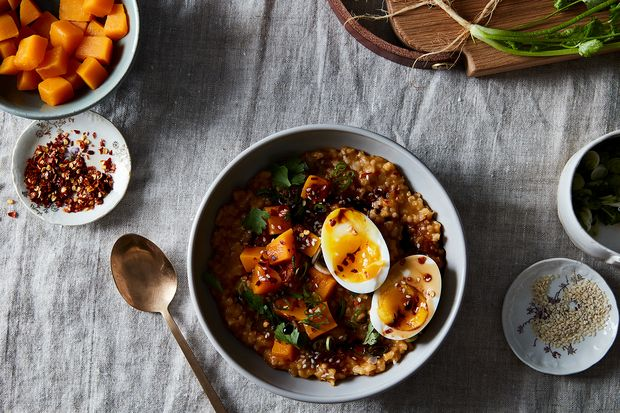 Butternut Squash Brown Rice Porridge