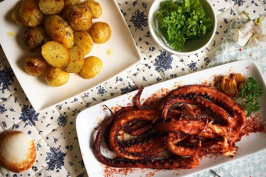 Oven Roasted Octopus with Potatoes