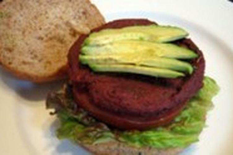 Beet, mushroom and veggie burgers