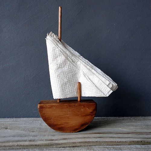 Driftwood Sailboat Napkin Holders