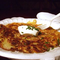 Gigantic potato pancakes