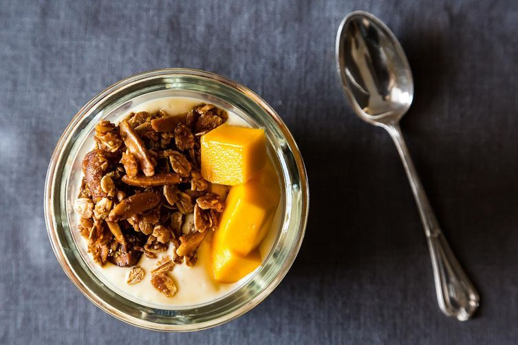 Mango Yogurt with Granola Recipe