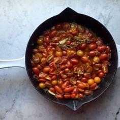 Half-Confited Cherry Tomato Vinaigrette