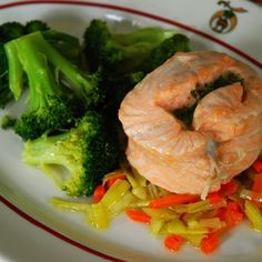 Steamed Salmon Mirepoix