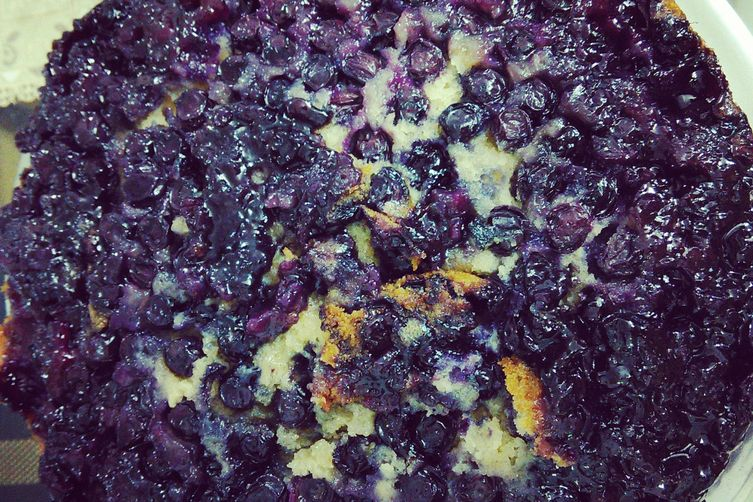 Blueberry Upside Down Yougurt Cake