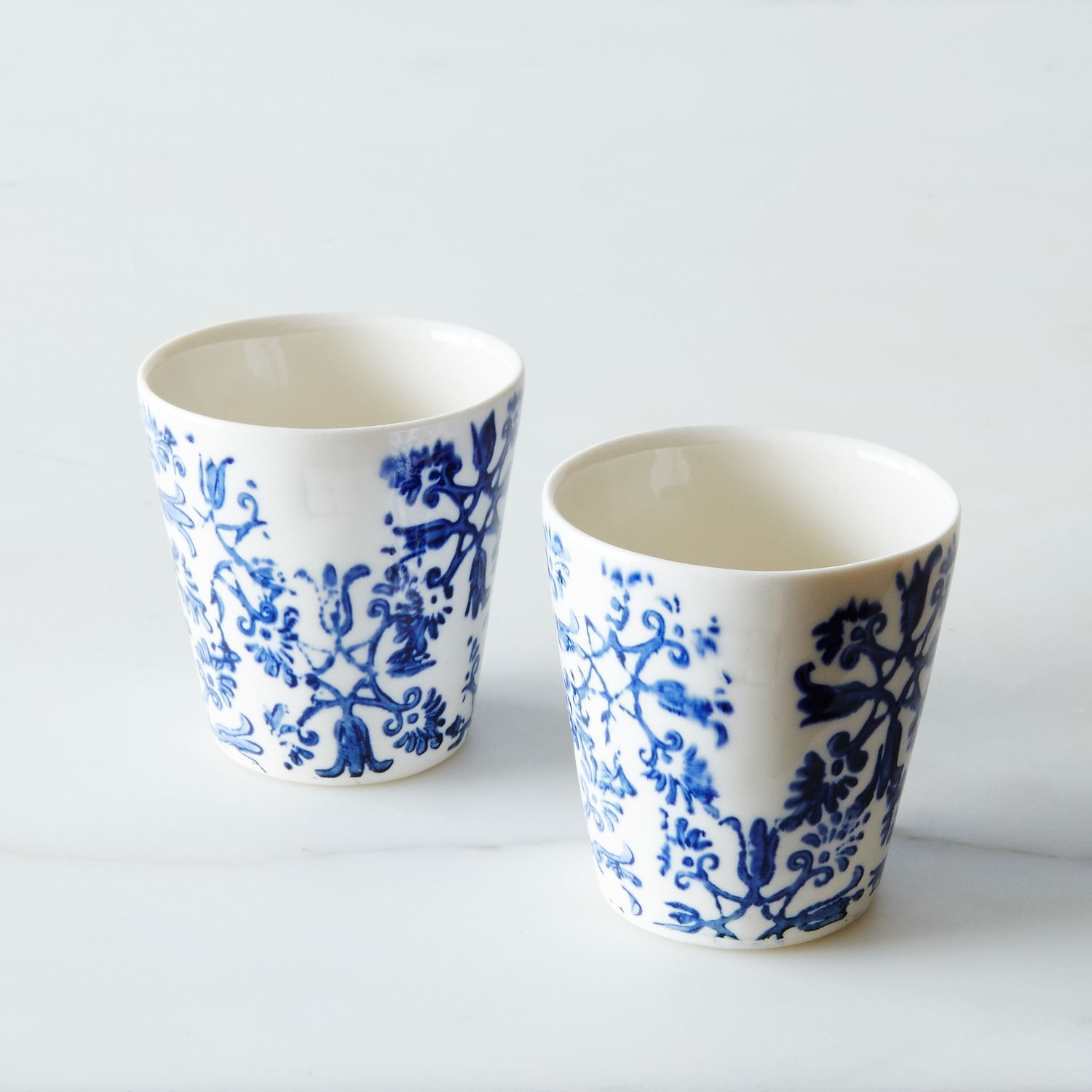 Floral Espresso Cups Set Of 2 Small Ceramic Cups