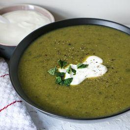 Minted Zucchini Soup