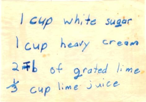 Lime Ice Cream Recipe