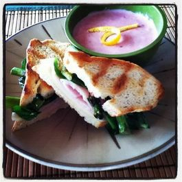 Grilled Asparagus and Prosciutto Panini