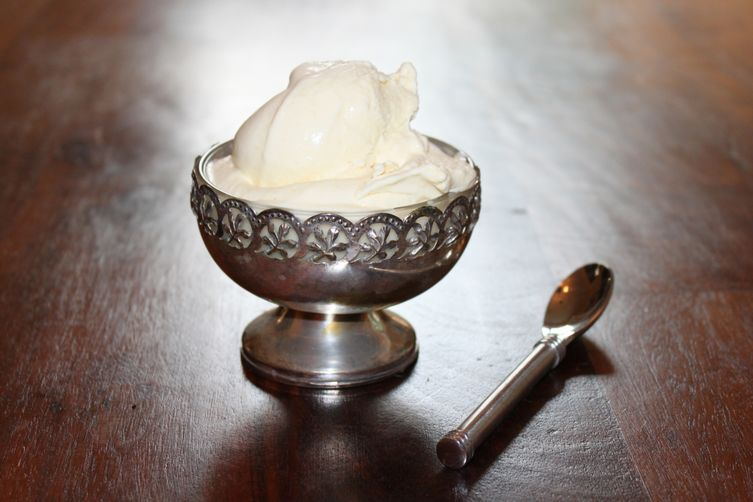 Roasted Peach & Mint Ice Cream