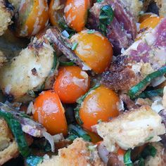 Grilled Garlic Bread Panzanella