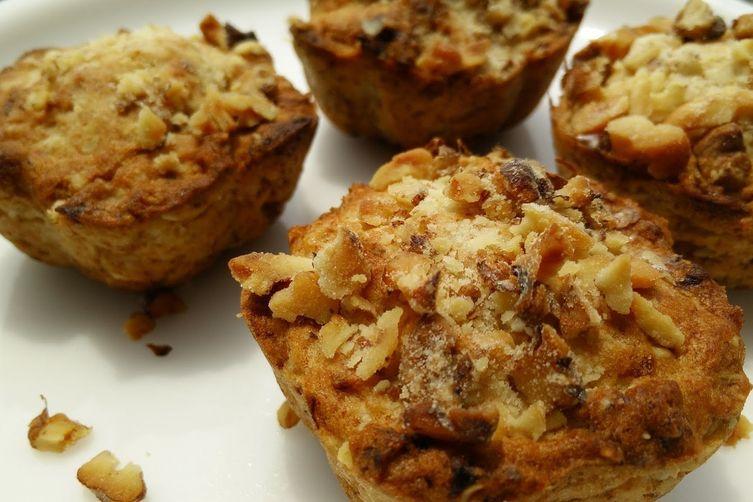 Airfried Banana Walnuts Oats Muffins