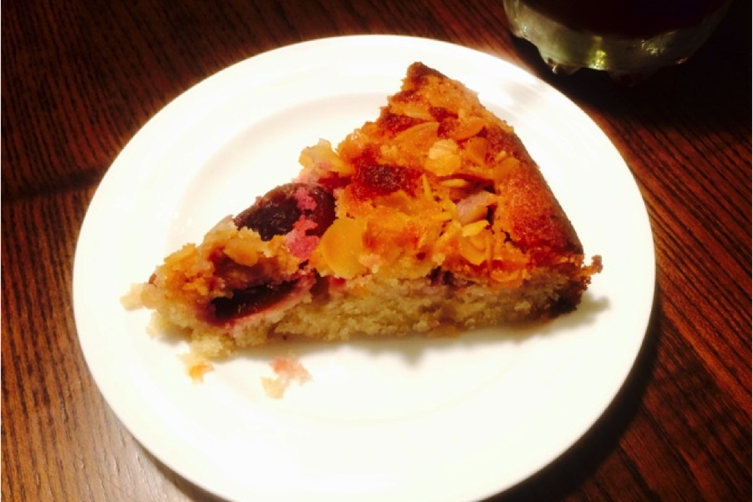 Italian Purple Plum and Almond Cake