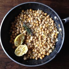 Smashed Chickpeas with Rosemary & Garlic