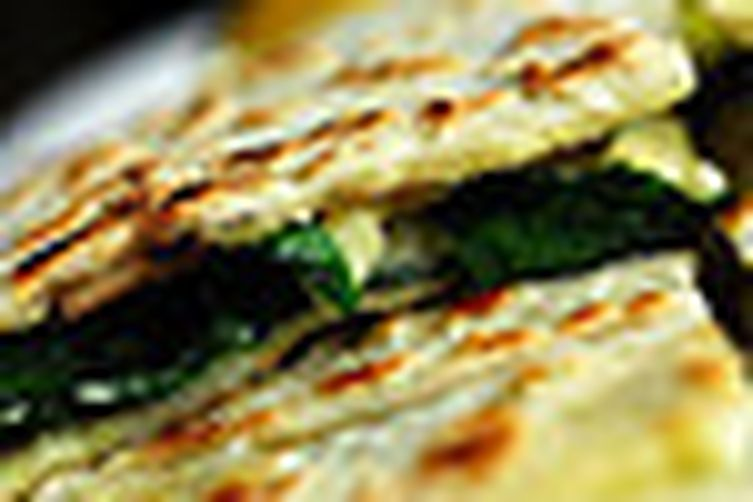 Spinach and cheese gozleme