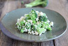 Fresh tofu crumble with broccoli (Korean Dubu Muchim)