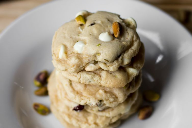 Cranberry White Chocolate Chip Pistachio Cookies